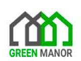 Логотип GreenManor  - дома из дерева под ключ